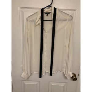 Express long sleeve button down with neck tie
